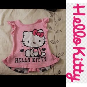 size 2T Hello Kitty sparkly plaid top